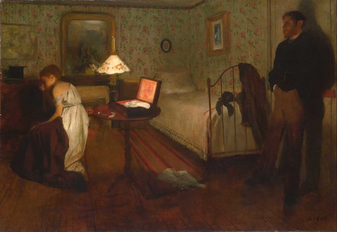 Edgar Degas, Interior, 1868-69.