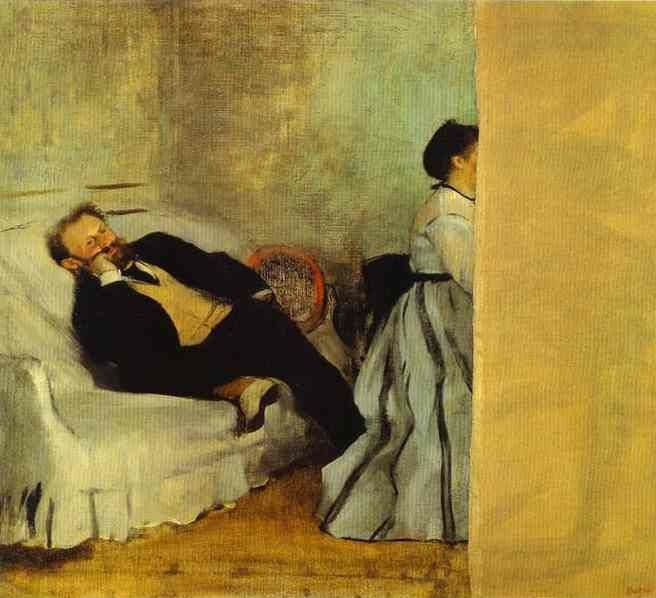 Edgar Degas. Portrait of Monsieur and Madame Edouard Manet. c.1868-69.