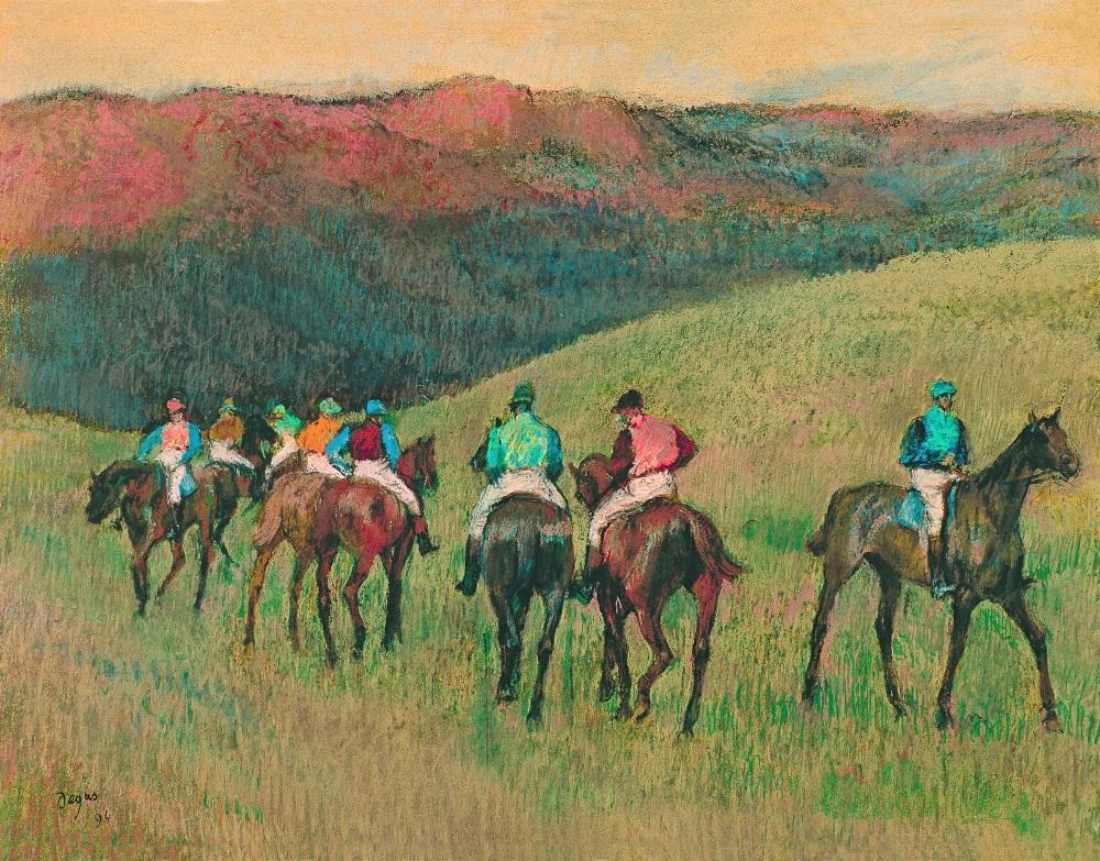 Edgar Degas, Racehorses in a Landscape, 1894.