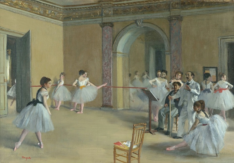 Edgar Degas, Rehearsal Hall at the Opera  Rue Le Peletier, 1872.