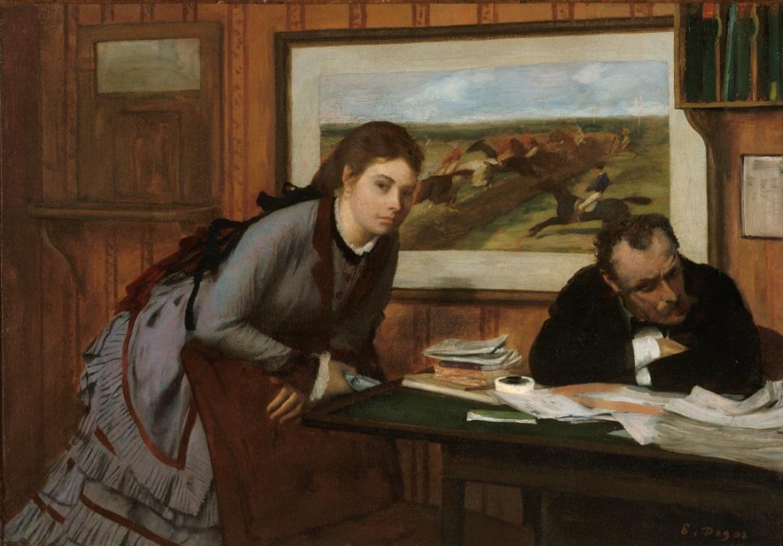 Edgar Degas, Sulking, c. 1870.