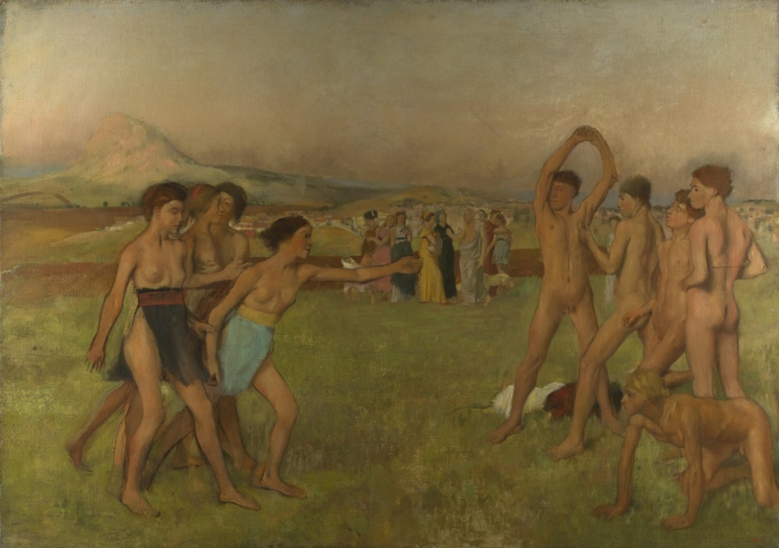 Edgar Degas, Young Spartans Exercising, 1860.