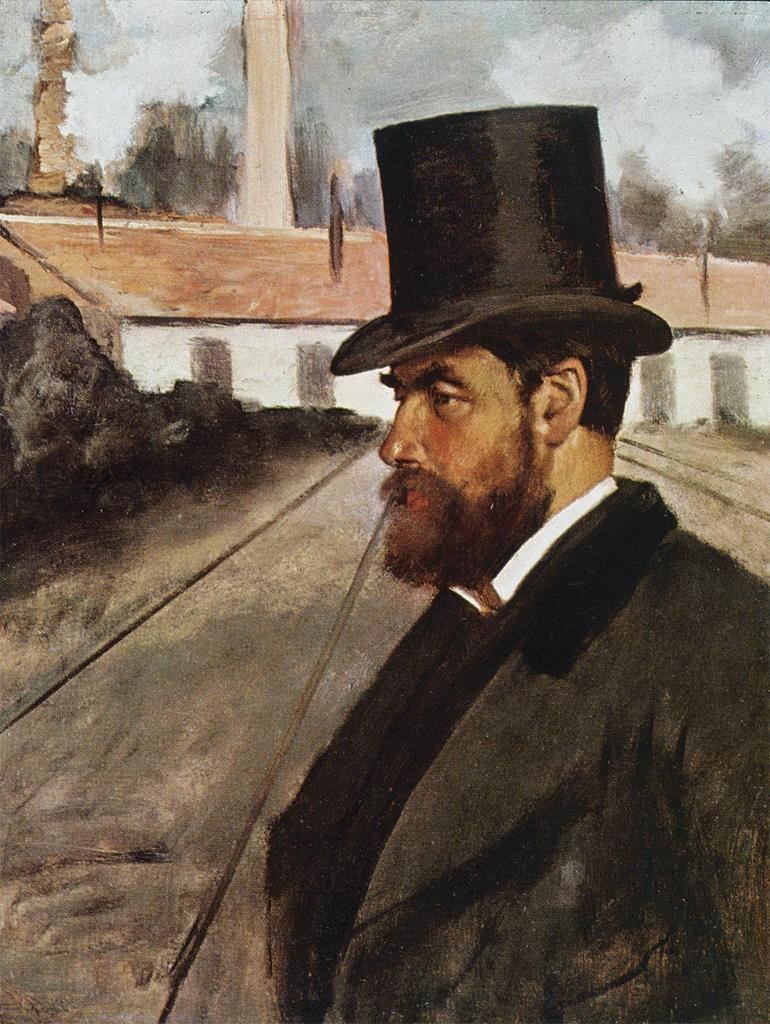 Edgar Degas, Henri Rouart in Front of his Factory, ca 1875.