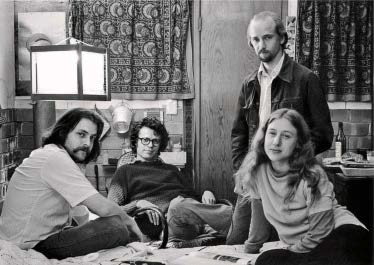 Phel Steinmetz, [The San Diego group, c. 1976. From left: Allan Sekula, Fred Lonidier, Phel Steinmetz, and Martha Rosler.], c. 1976.
