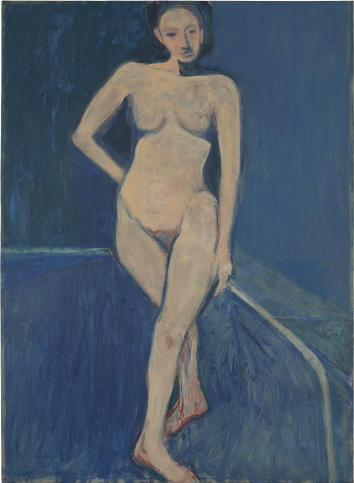 Richard Diebenkorn, Nude on a Blue Ground, 1966.
