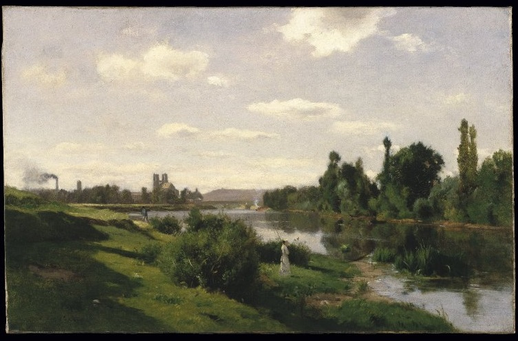Daubigny, The River Seine at Mantes, c. 1856.