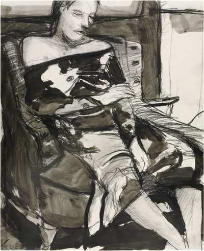 Richard DIebenkorn, Untitled (Woman Seated in a Chair), 1963.