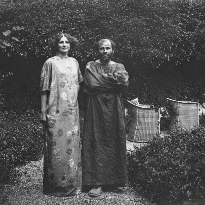 Unknown photographer, Emilie Floge and Gustav Klimt in the garden of the Villa Oleander in Kammerl/Attersee, 1910.