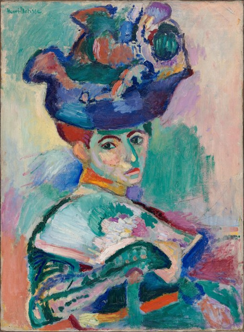 Henri Matisse, Femme au Chapeau, 1905.