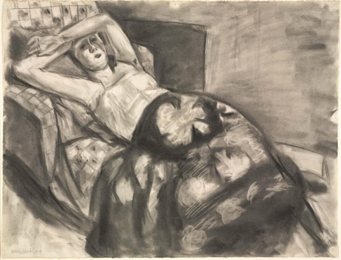 Henri Matisse, Reclining Model with a Flowered Robe, ca. 1923-24.