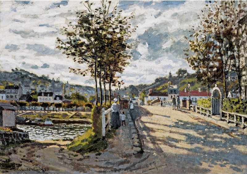 Claude Monet, Bridge at Bougival, 1869.