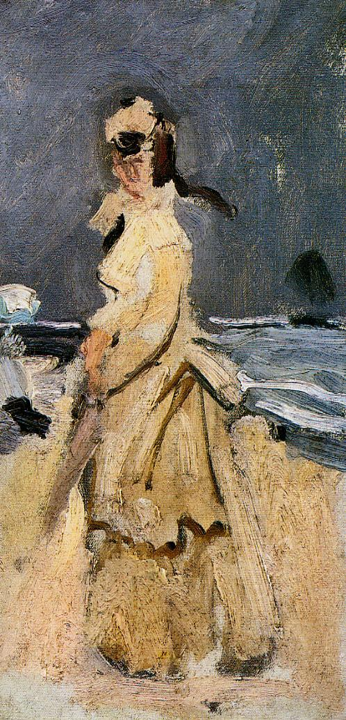 Claude Monet, Camille on the Beach, 1870.