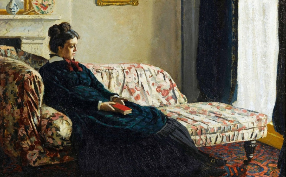 Claude Monet, Meditation: Madame Monet Sitting on a Sofa, 1870-71.