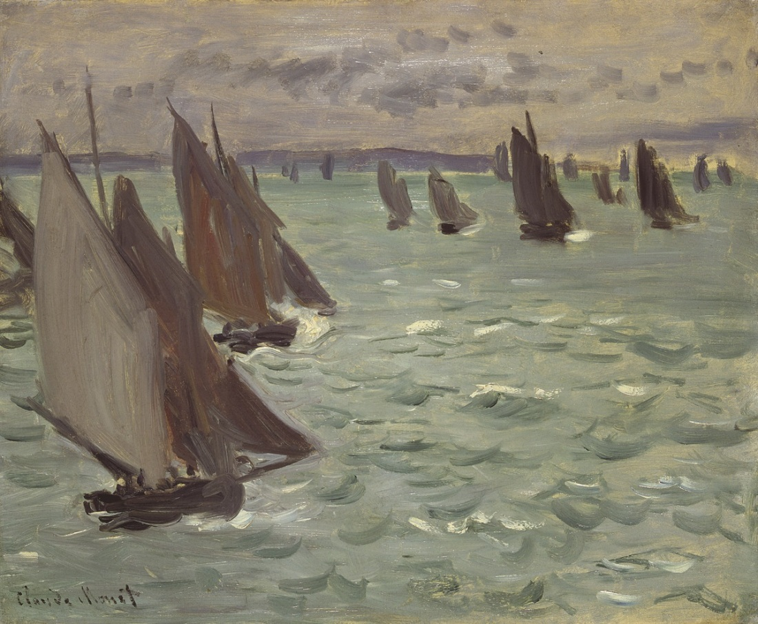 Claude Monet, Sailboats at Sea, 1868.