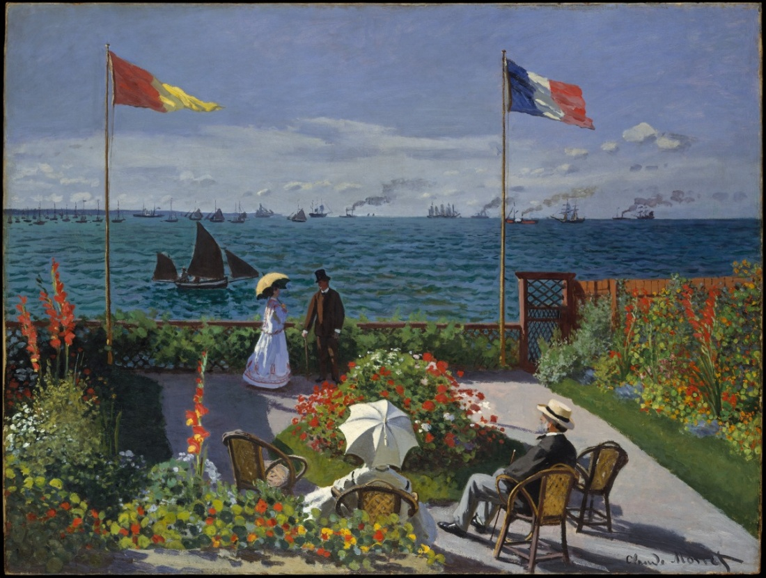 Claude Monet, Terrace of Sainte-Adresse, 1867.
