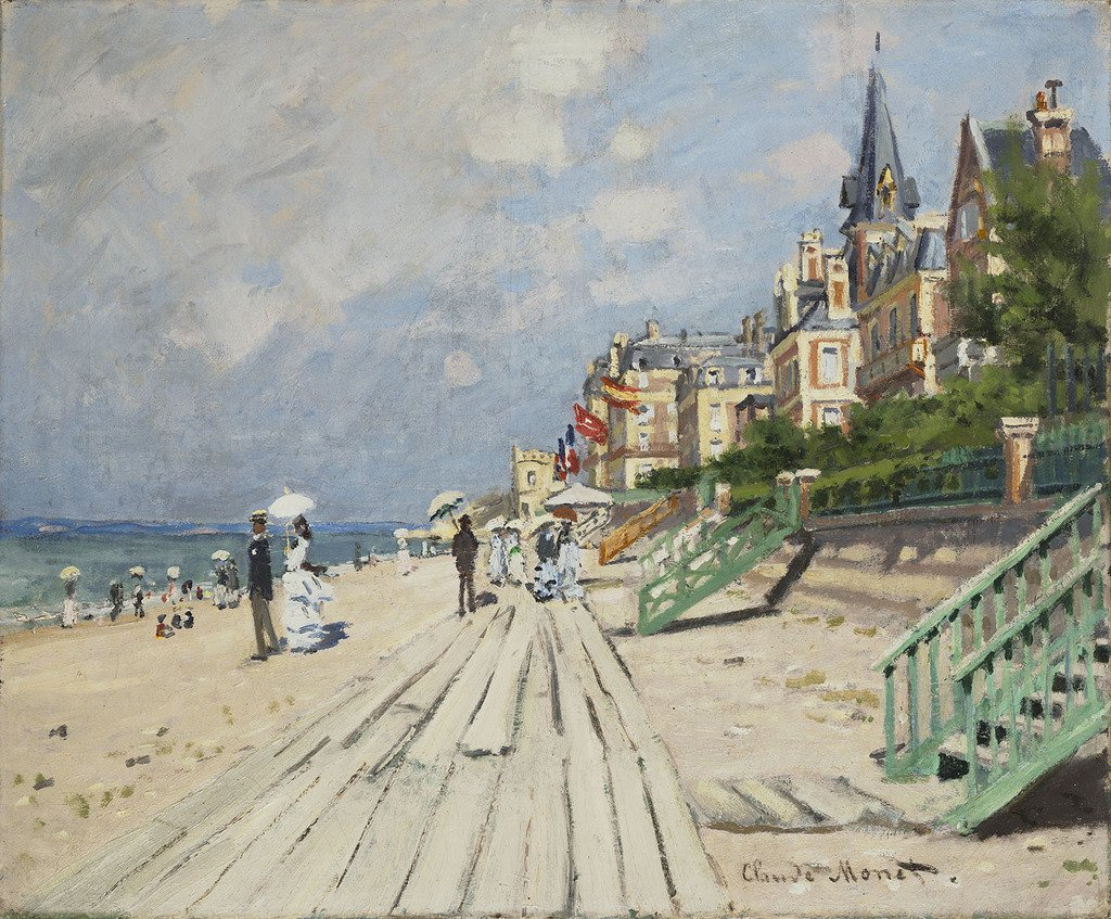 Claude Monet, The Beach at Trouville, 1870.