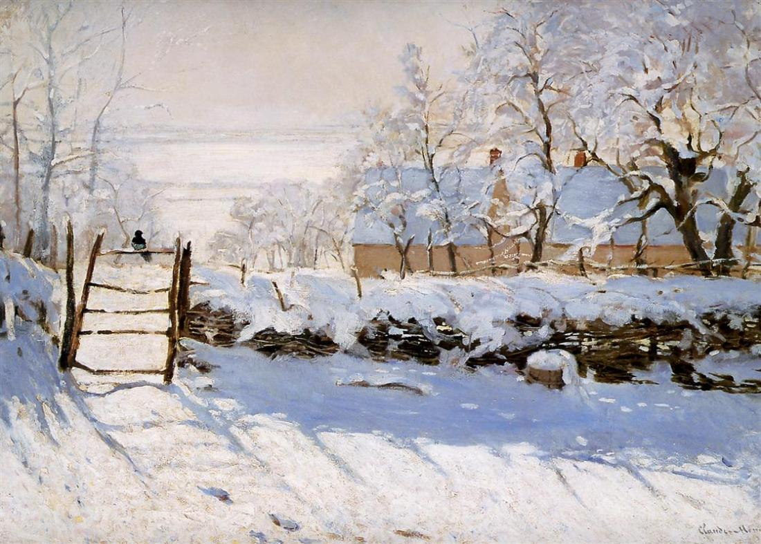Claude Monet, The Magpie, 1869.
