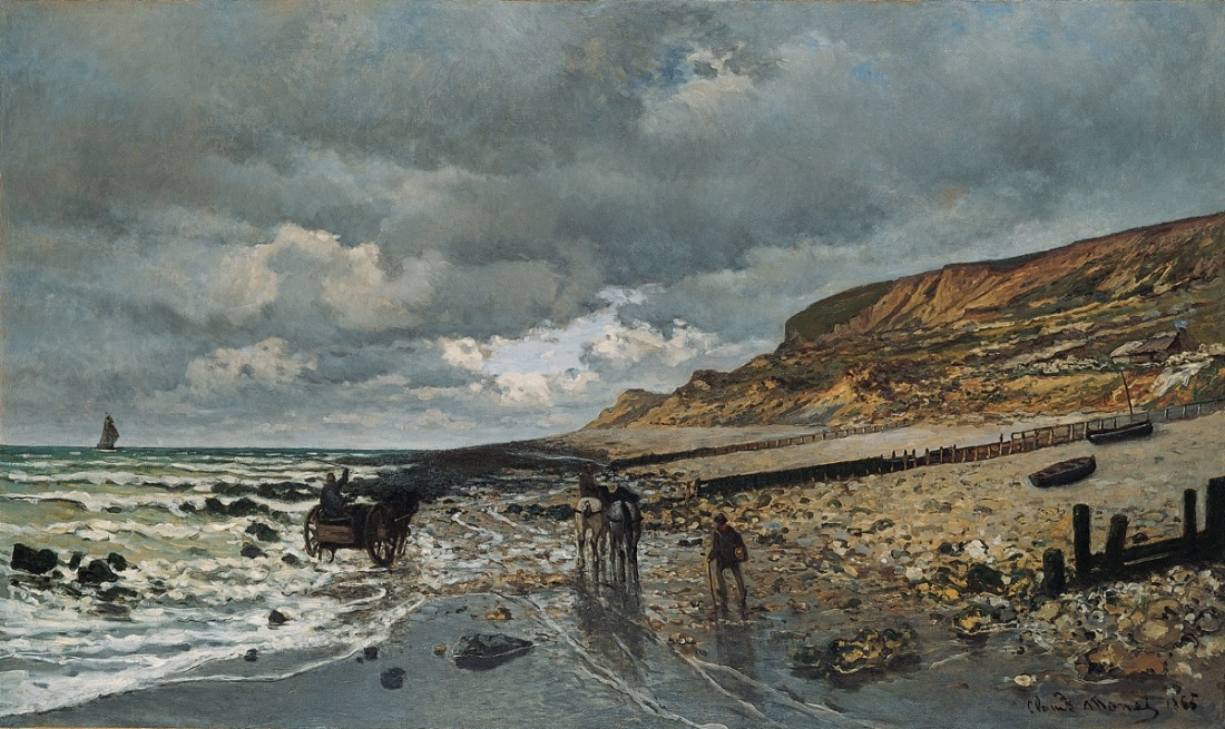 Claude Monet, The Pointe de la Heve at Low Tide, 1865.