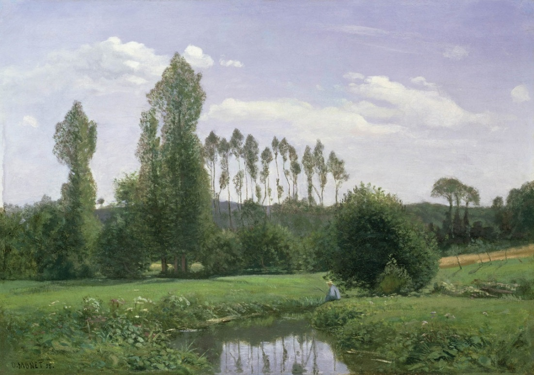 Claude Monet, View Near Rouelles, 1858.