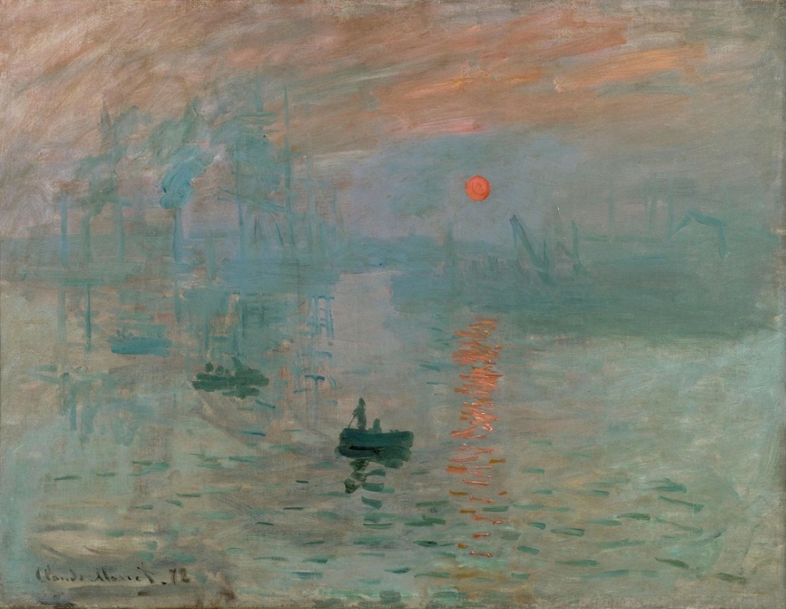Claude Monet, Impression, Sunrise. 1872.