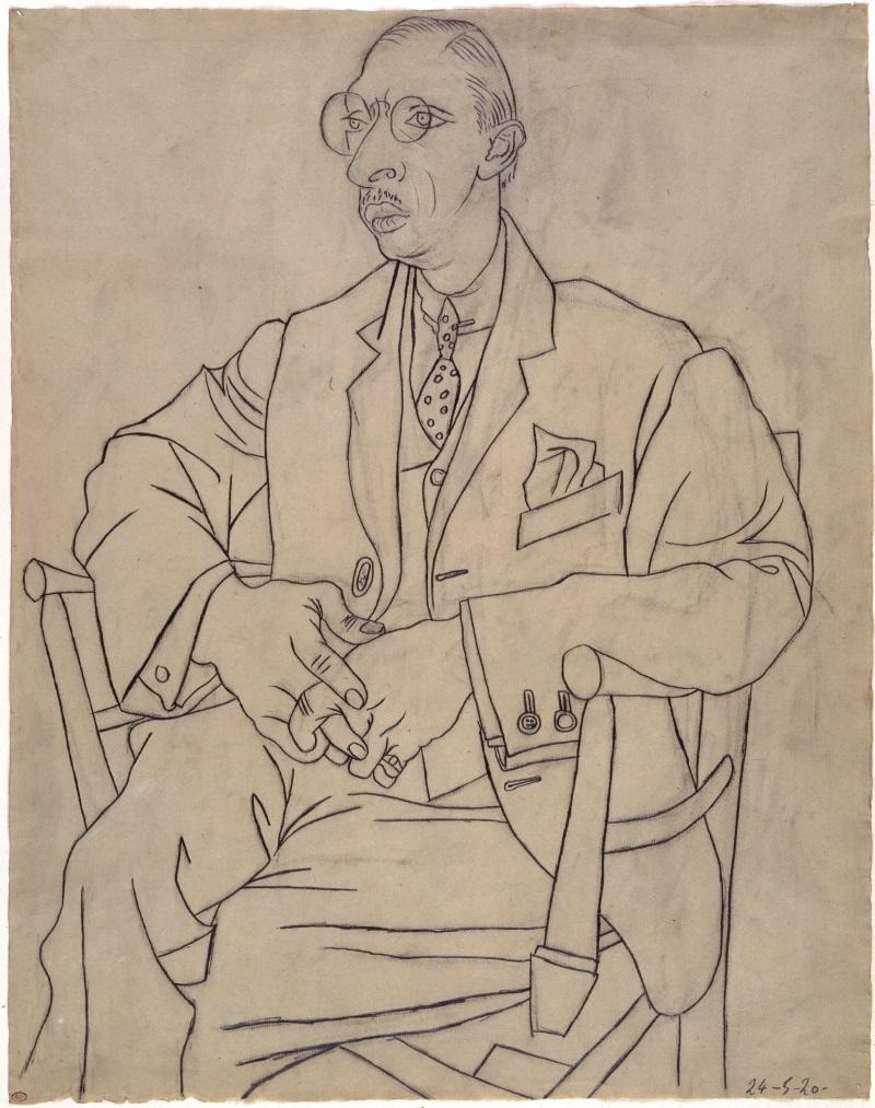 Pablo Picasso, Portrait of Igor Stravinsky, 1920.