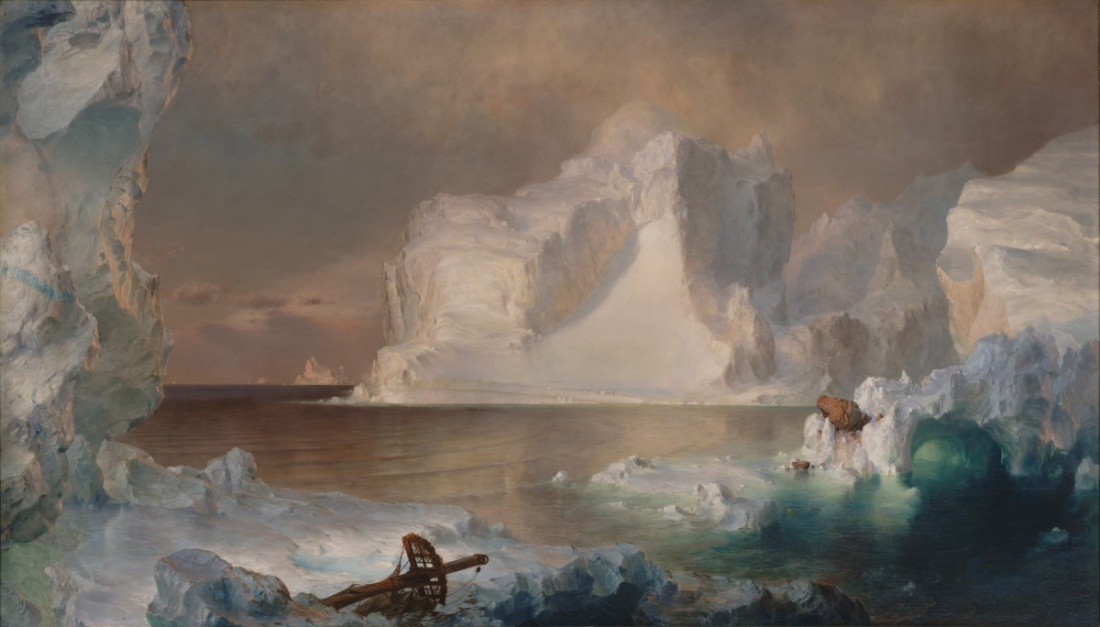 Frederic Church, The Icebergs, 1861.