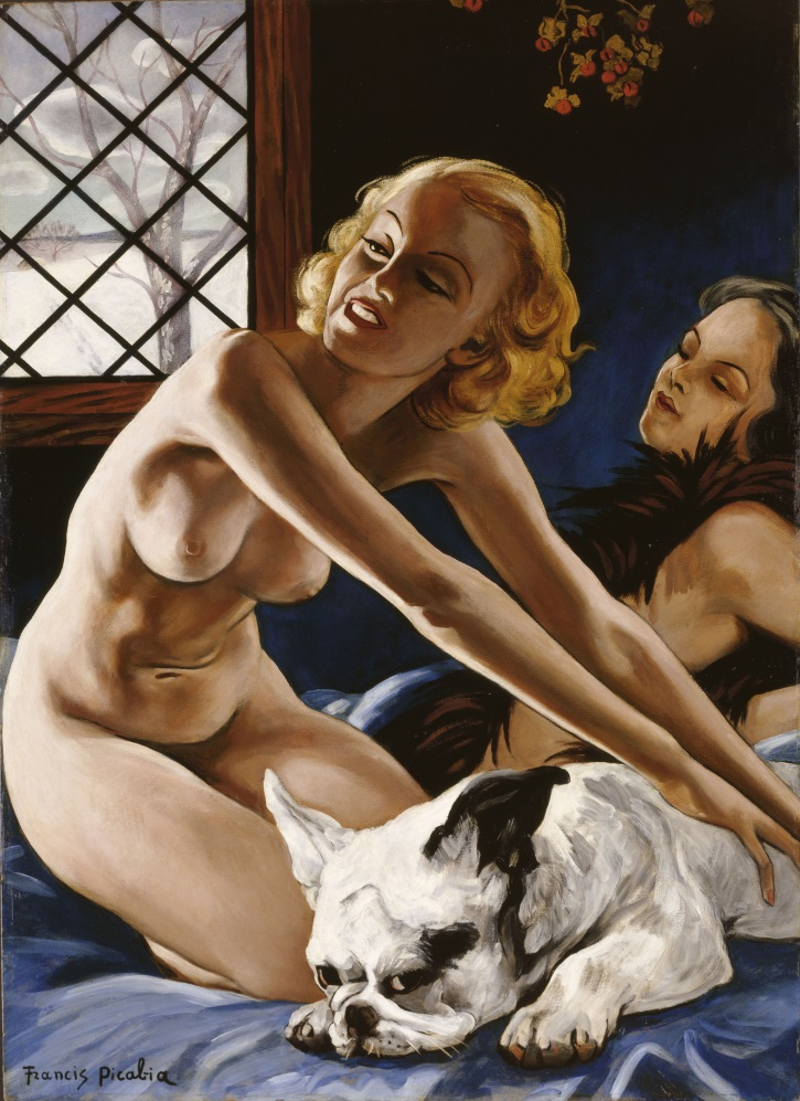 Francis Picabia, Femmes au bull-dog (Women with Bulldog), c. 1941.