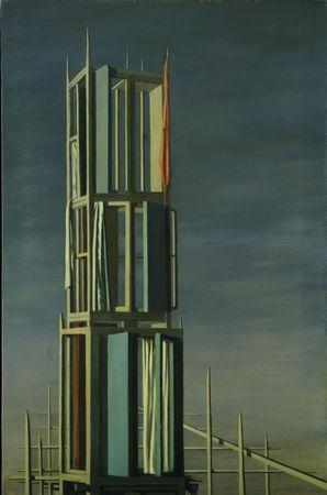 Kay Sage, Hyphen, 1954.