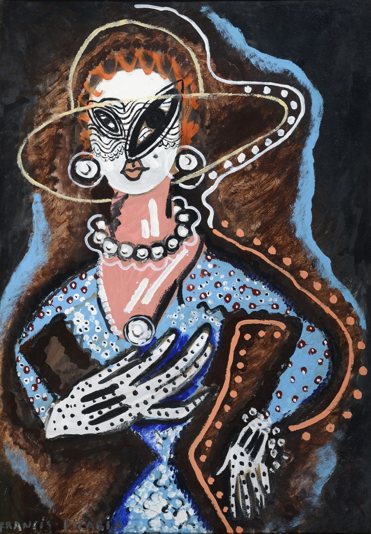 Francis Picabia. La Femme au monocle (Woman with Monocle). c. 1925–26.