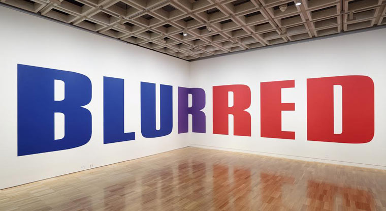 Kay Rosen, Blurred, 2004/15.