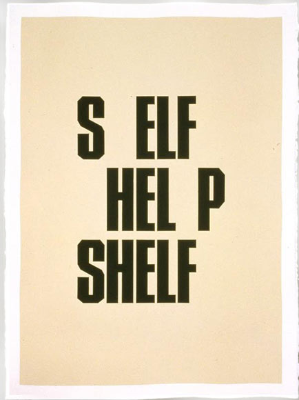 "Kay Rosen, ""Shelf,"" from ""Room Series,"" 2001."